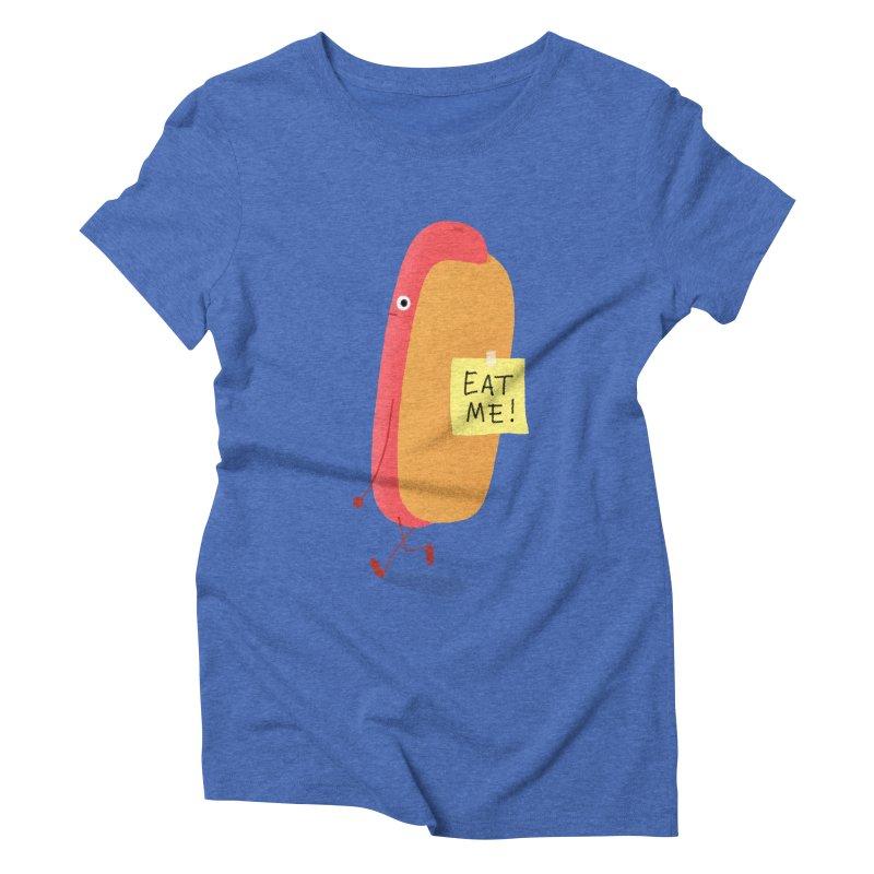 Hot Dog Prank Women's Triblend T-Shirt by Mauro Gatti House of Fun