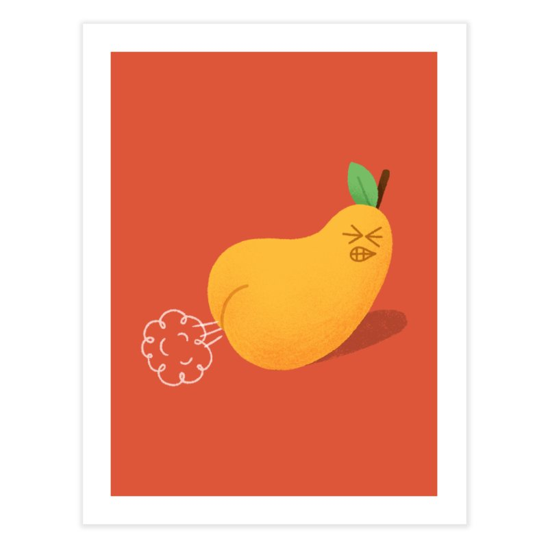 Nasty Pear Home Fine Art Print by Mauro Gatti House of Fun