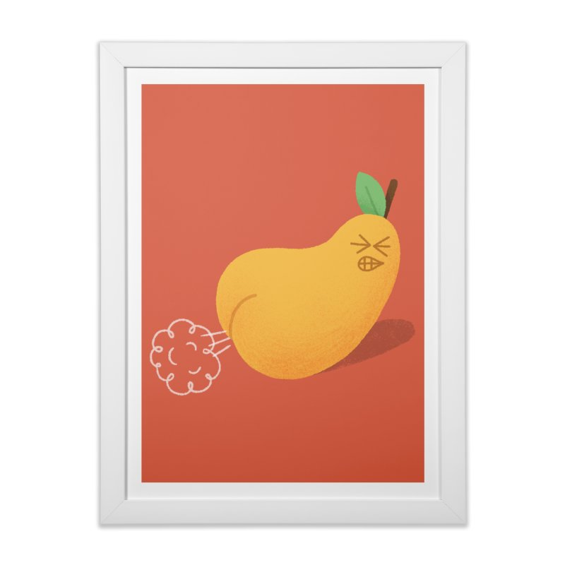 Nasty Pear in Framed Fine Art Print White by Mauro Gatti House of Fun