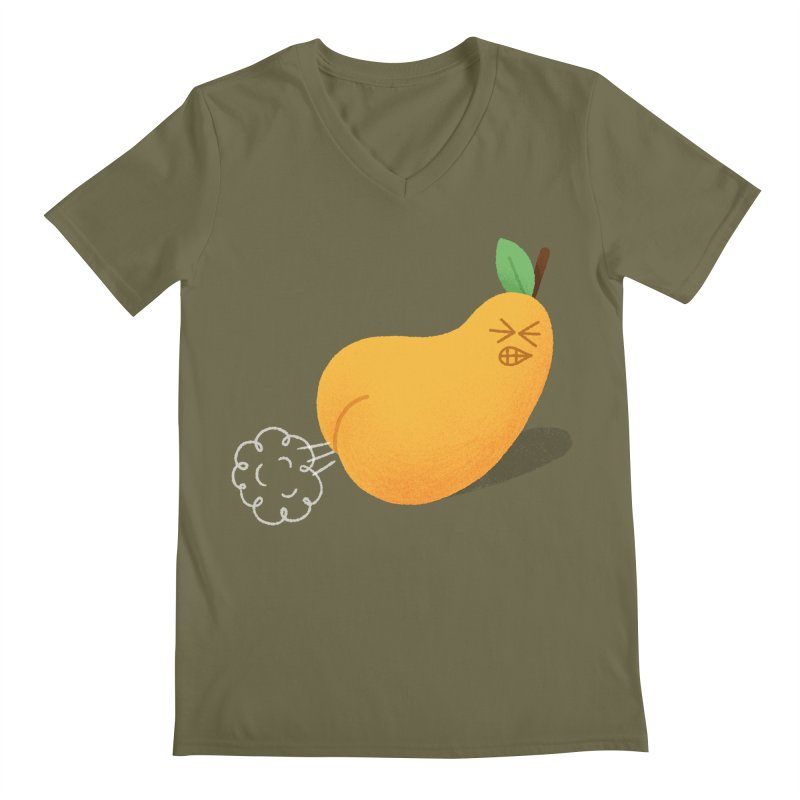 Nasty Pear Men's V-Neck by Mauro Gatti House of Fun