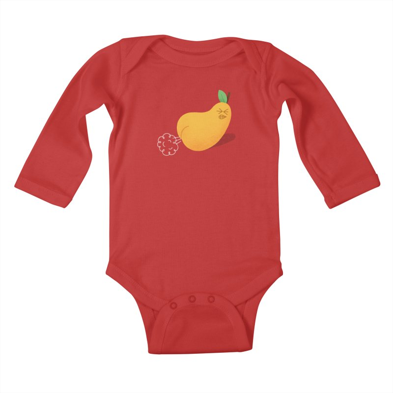 Nasty Pear Kids Baby Longsleeve Bodysuit by Mauro Gatti House of Fun