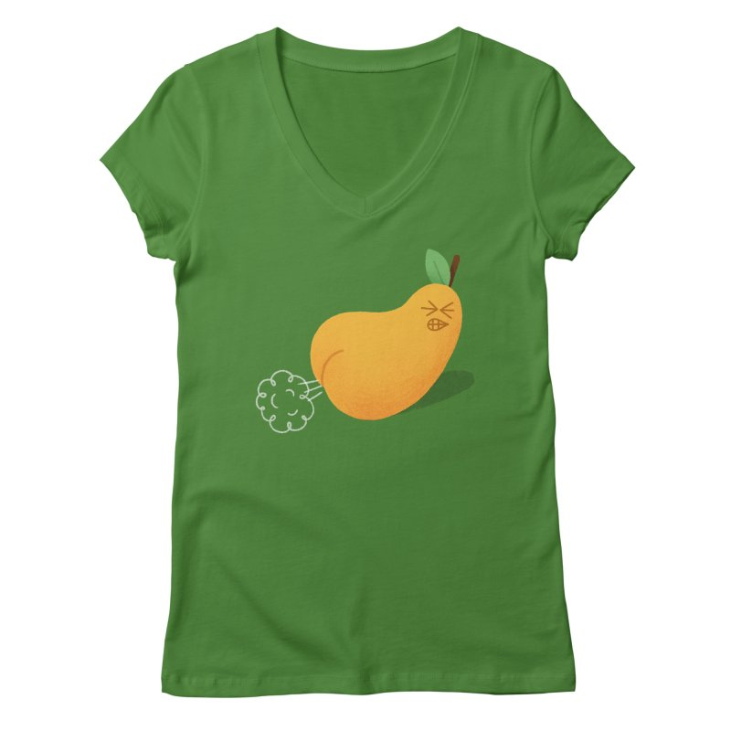 Nasty Pear Women's V-Neck by Mauro Gatti House of Fun