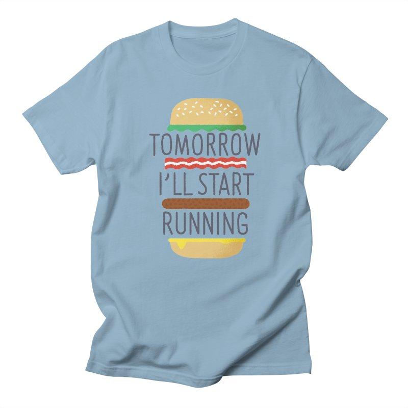 Tomorrow I'll start running Men's T-Shirt by Mauro Gatti House of Fun