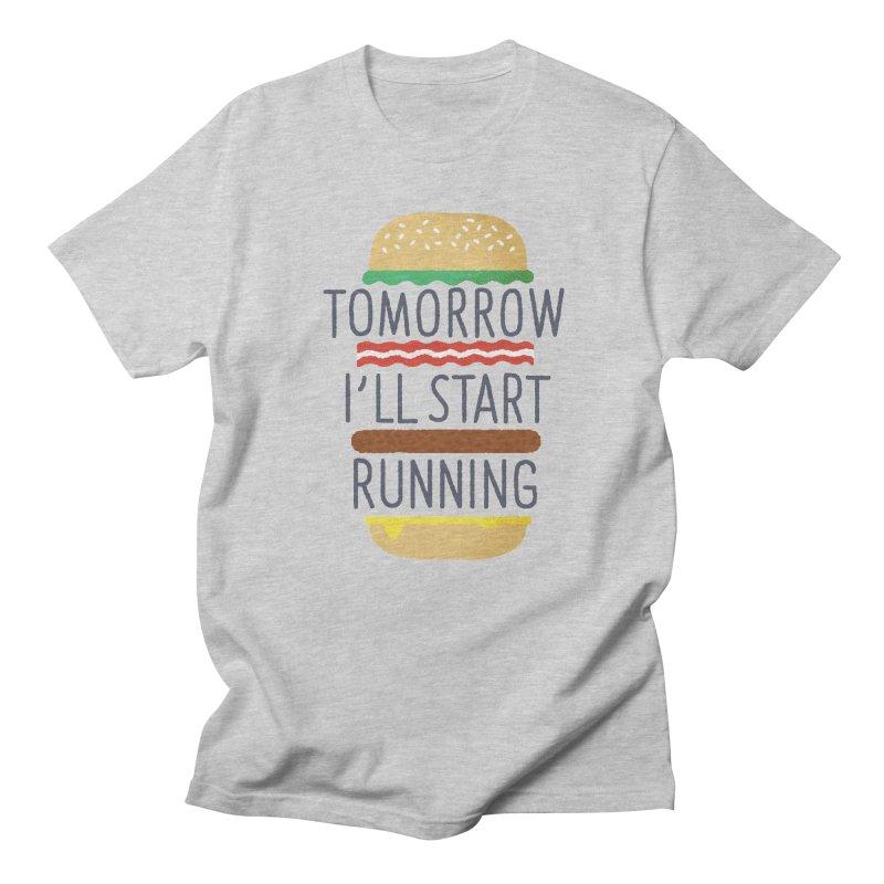 Tomorrow I'll start running Men's Regular T-Shirt by Mauro Gatti House of Fun
