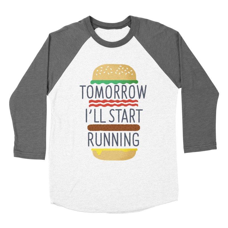 Tomorrow I'll start running Men's Baseball Triblend T-Shirt by Mauro Gatti House of Fun