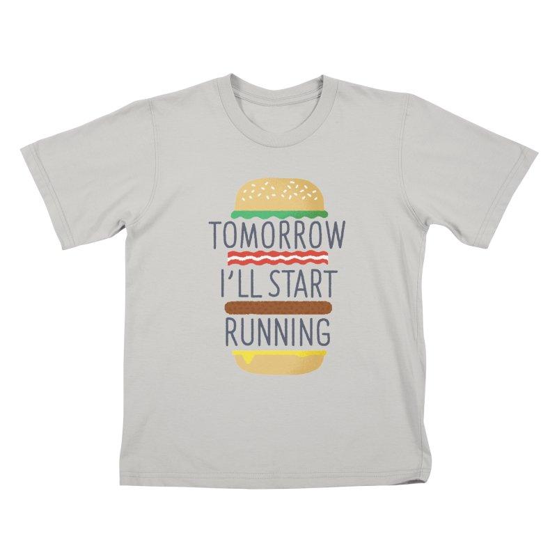 Tomorrow I'll start running Kids T-shirt by Mauro Gatti House of Fun