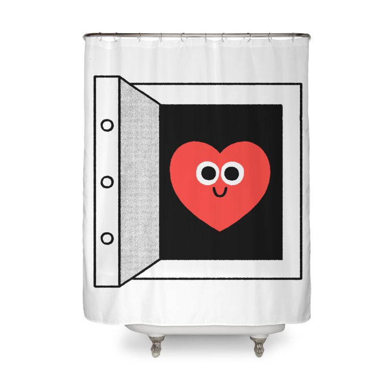 Open Love Home Shower Curtain by Mauro Gatti House of Fun