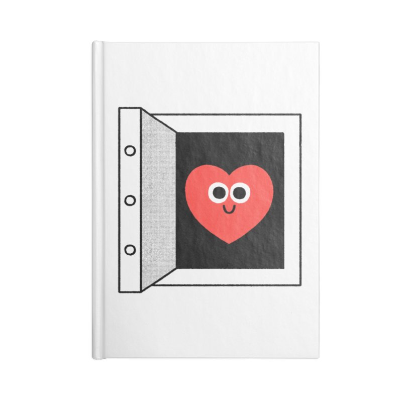 Open Love Accessories Lined Journal Notebook by Mauro Gatti House of Fun