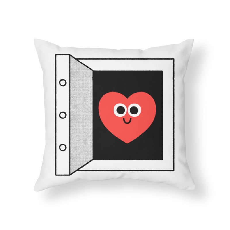 Open Love Home Throw Pillow by Mauro Gatti House of Fun