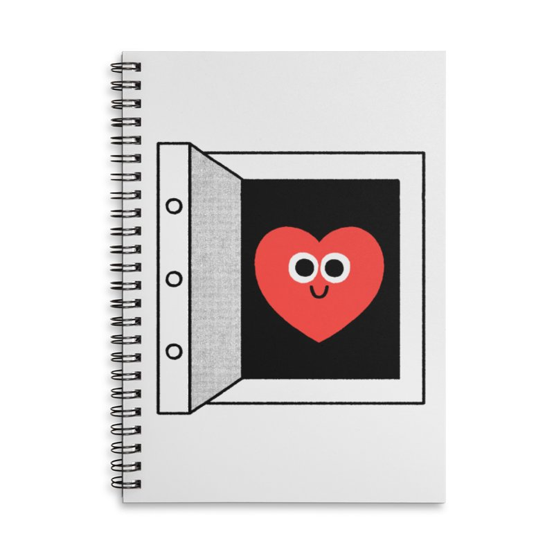 Open Love Accessories Lined Spiral Notebook by Mauro Gatti House of Fun