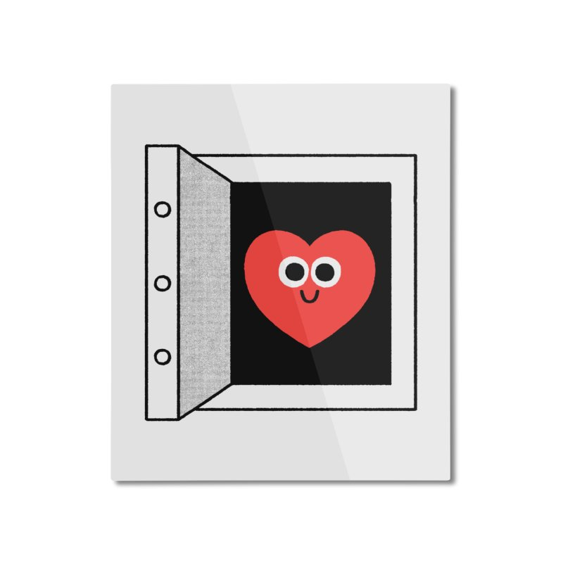 Open Love Home Mounted Aluminum Print by Mauro Gatti House of Fun