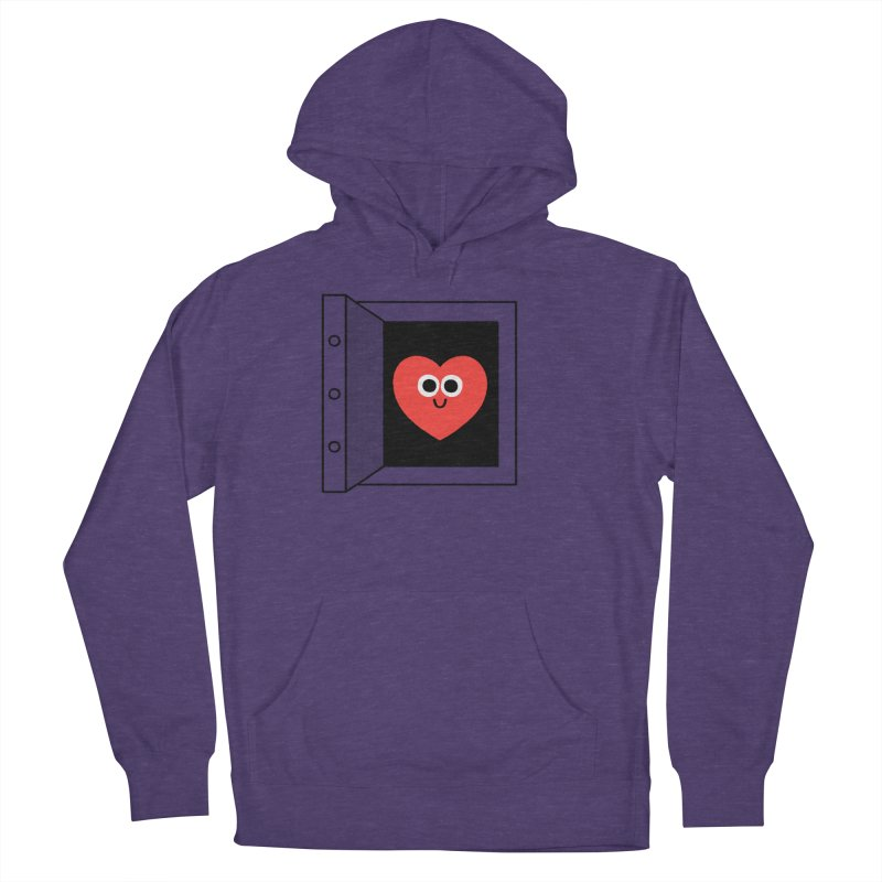 Open Love Men's French Terry Pullover Hoody by Mauro Gatti House of Fun