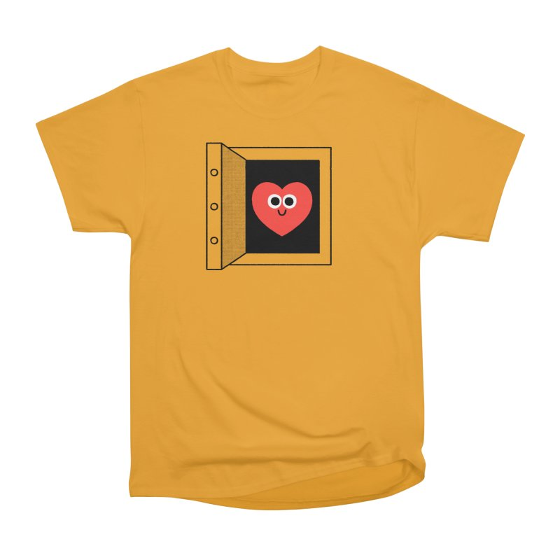 Open Love Men's Heavyweight T-Shirt by Mauro Gatti House of Fun