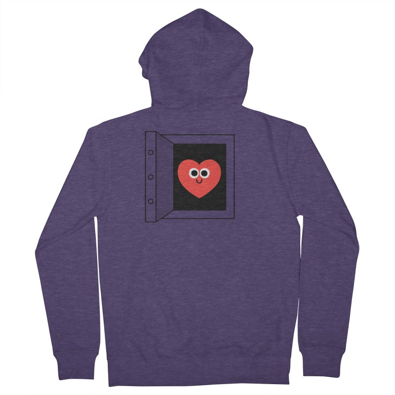 Open Love Men's French Terry Zip-Up Hoody by Mauro Gatti House of Fun