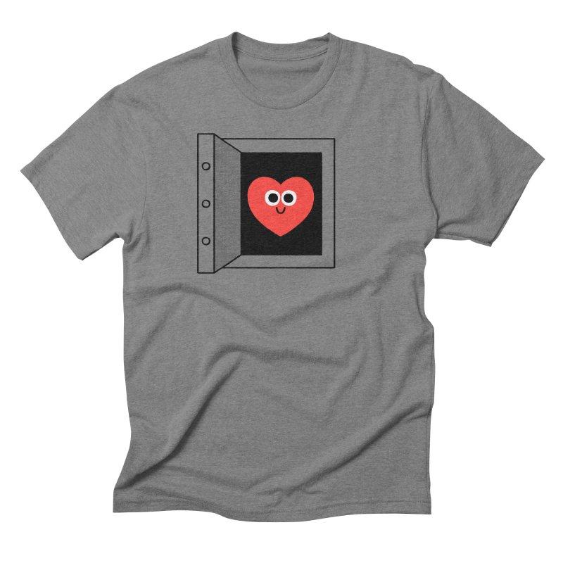 Open Love Men's Triblend T-Shirt by Mauro Gatti House of Fun