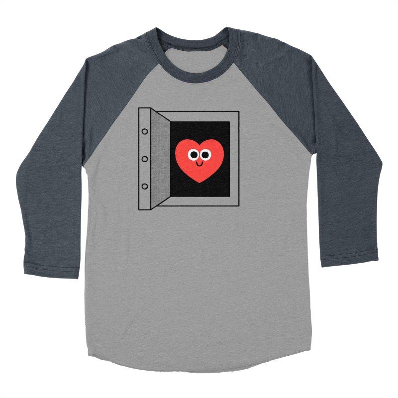 Open Love Women's Baseball Triblend Longsleeve T-Shirt by Mauro Gatti House of Fun