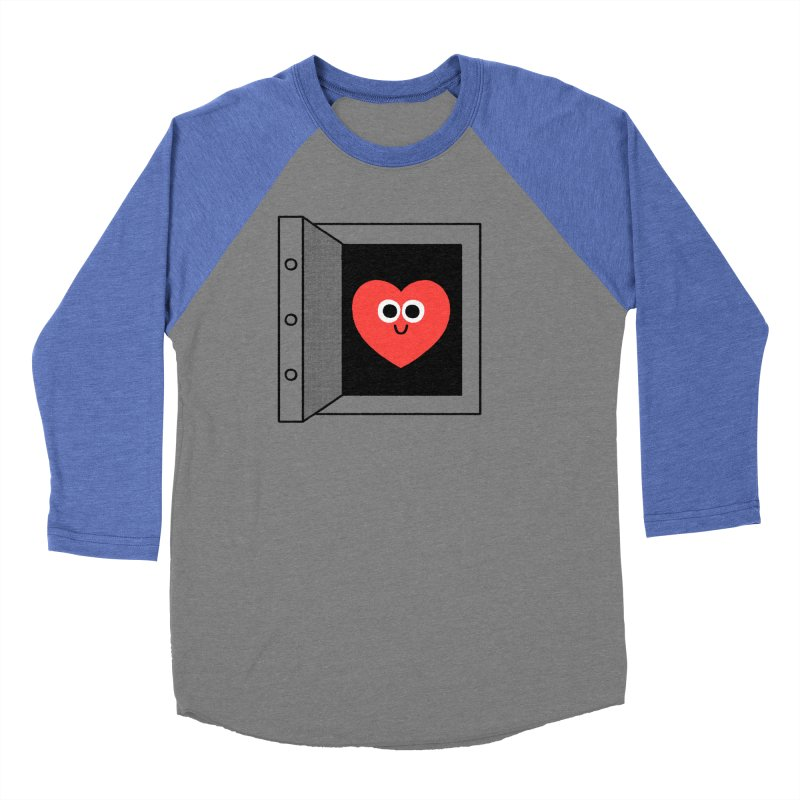 Open Love Men's Baseball Triblend Longsleeve T-Shirt by Mauro Gatti House of Fun