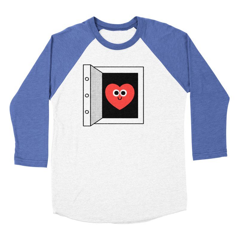 Open Love Men's Baseball Triblend Longsleeve T-Shirt by Mauro Gatti House of Fun