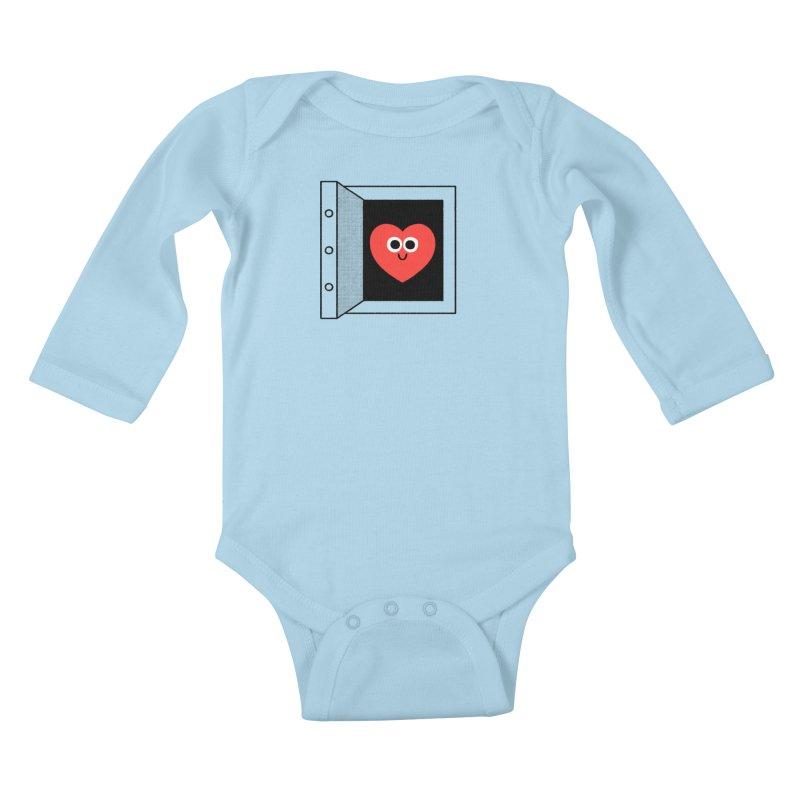 Open Love Kids Baby Longsleeve Bodysuit by Mauro Gatti House of Fun