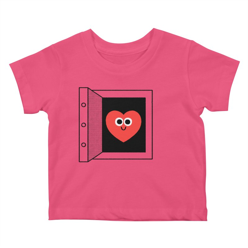 Open Love Kids Baby T-Shirt by Mauro Gatti House of Fun