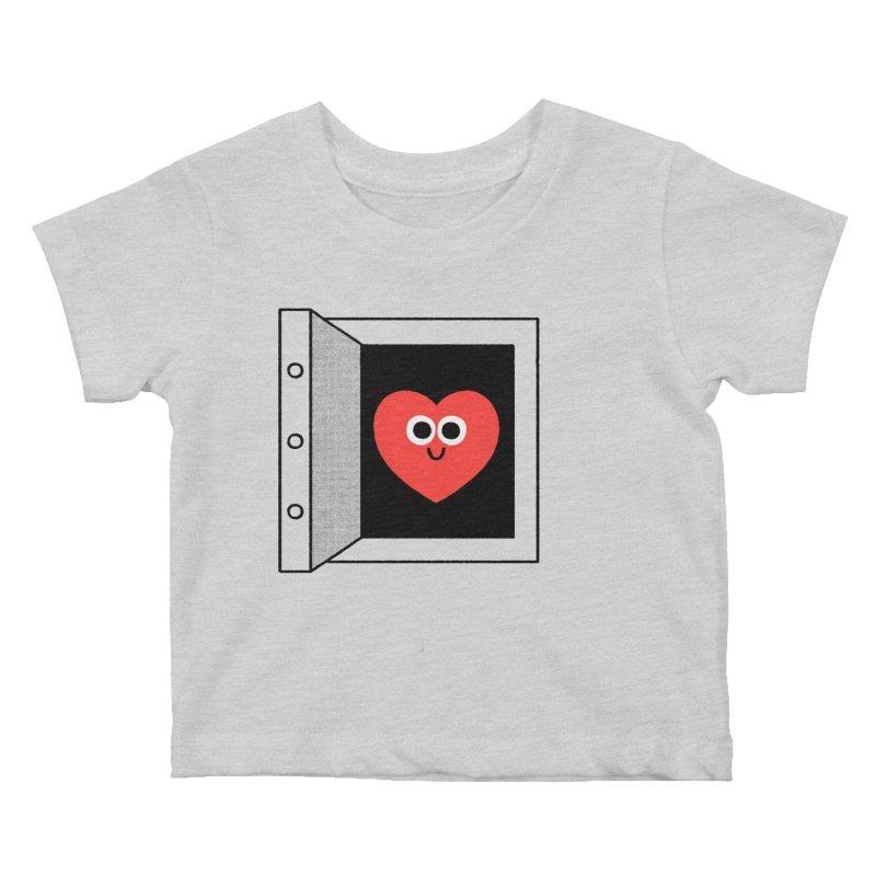 Open Love Kids Baby T-Shirt by Mauro Gatti House of Fun