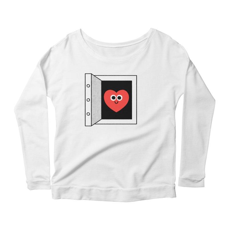 Open Love Women's Scoop Neck Longsleeve T-Shirt by Mauro Gatti House of Fun