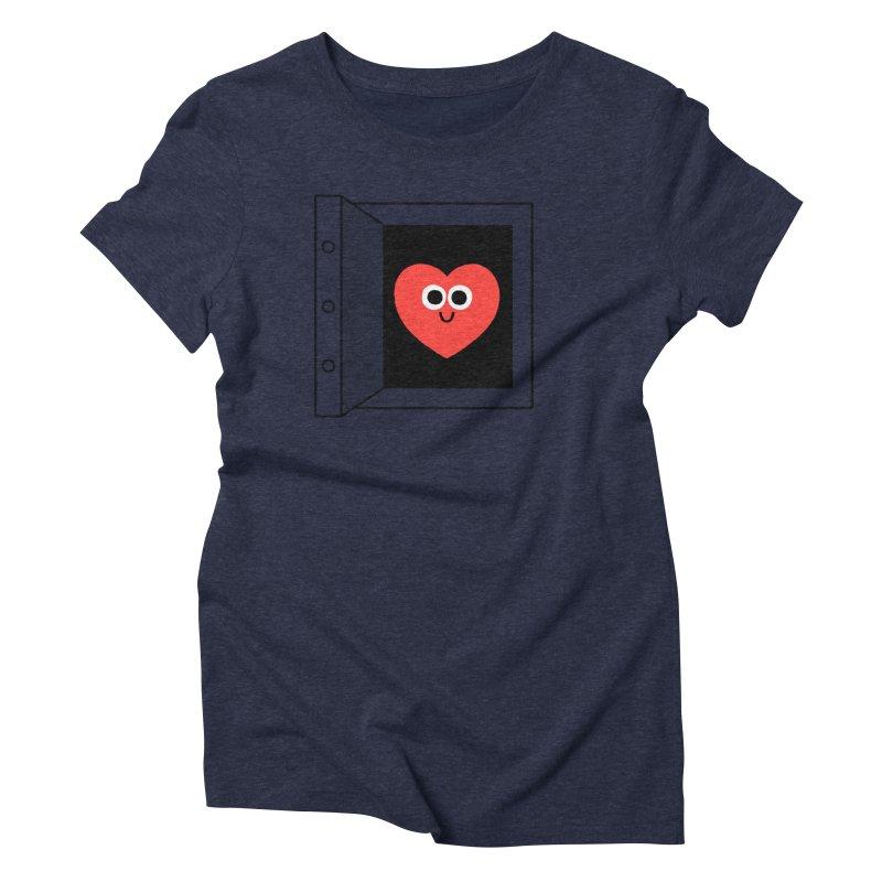 Open Love Women's Triblend T-Shirt by Mauro Gatti House of Fun