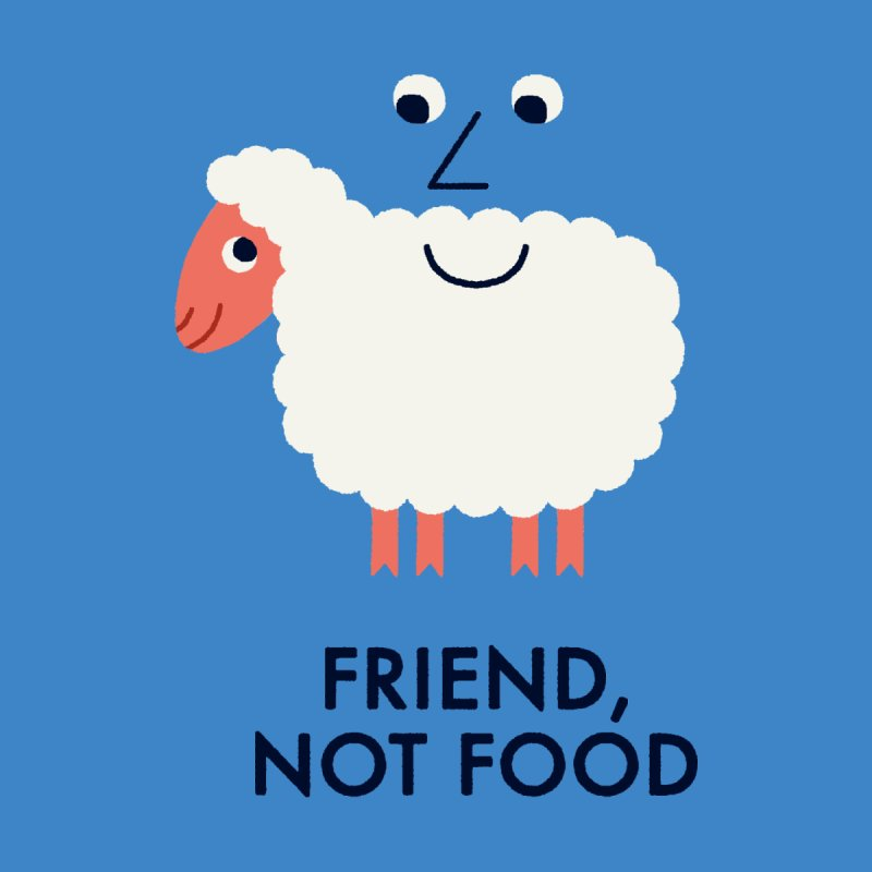 Friend, Not Food Men's T-shirt by Mauro Gatti House of Fun