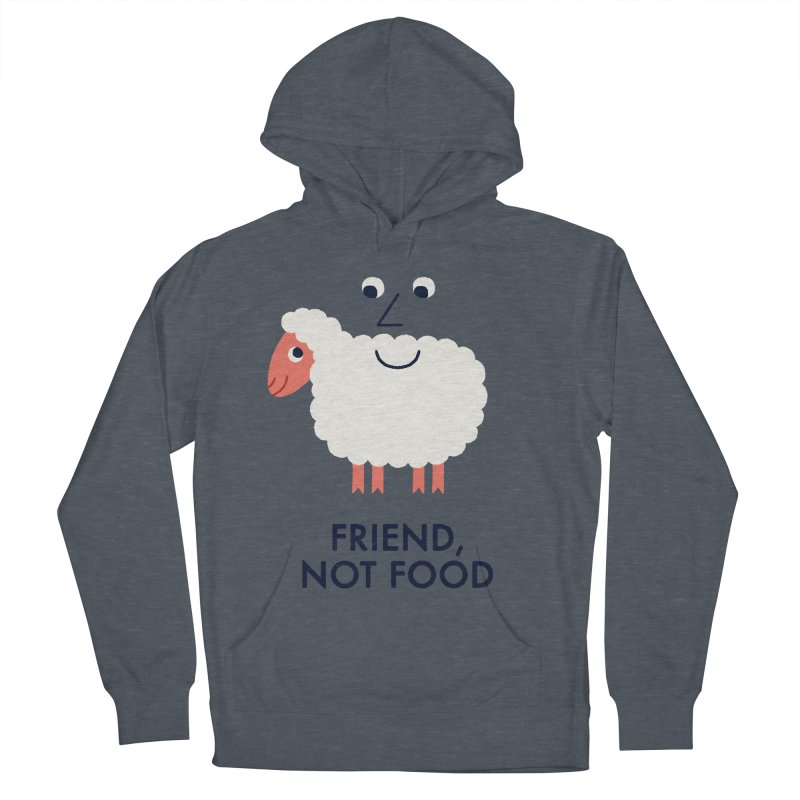Friend, Not Food Women's French Terry Pullover Hoody by Mauro Gatti House of Fun