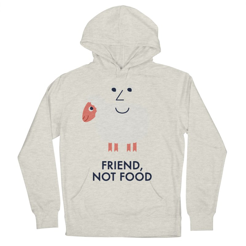 Friend, Not Food Men's French Terry Pullover Hoody by Mauro Gatti House of Fun