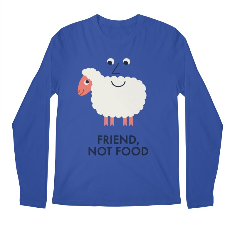 Friend, Not Food Men's Longsleeve T-Shirt by Mauro Gatti House of Fun