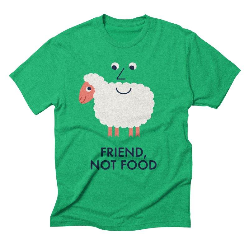 Friend, Not Food Men's Triblend T-Shirt by Mauro Gatti House of Fun