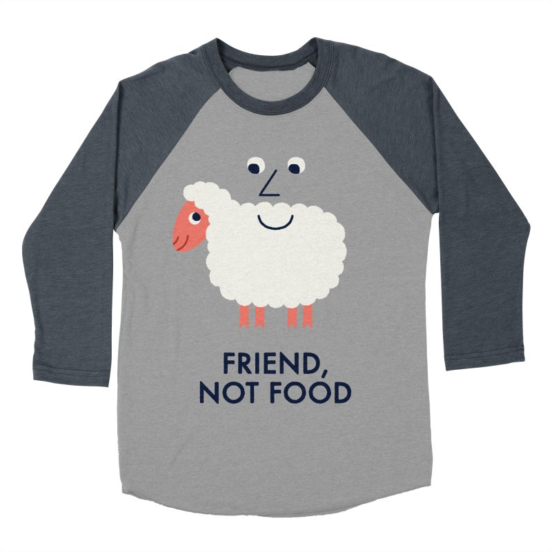 Friend, Not Food Men's Baseball Triblend Longsleeve T-Shirt by Mauro Gatti House of Fun