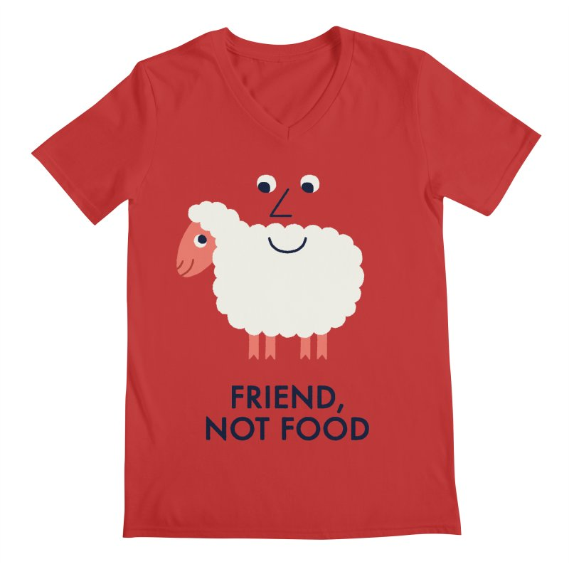 Friend, Not Food Men's V-Neck by Mauro Gatti House of Fun