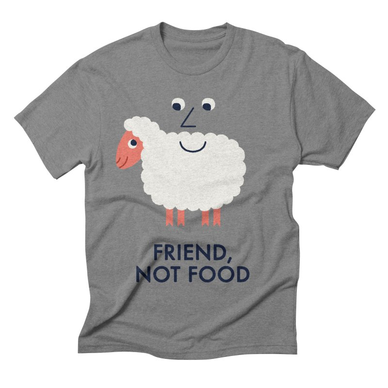 Friend, Not Food Men's Triblend T-shirt by Mauro Gatti House of Fun