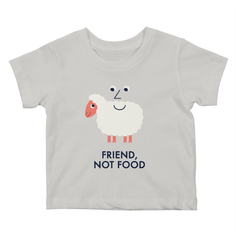 Friend, Not Food Kids Baby T-Shirt by Mauro Gatti House of Fun