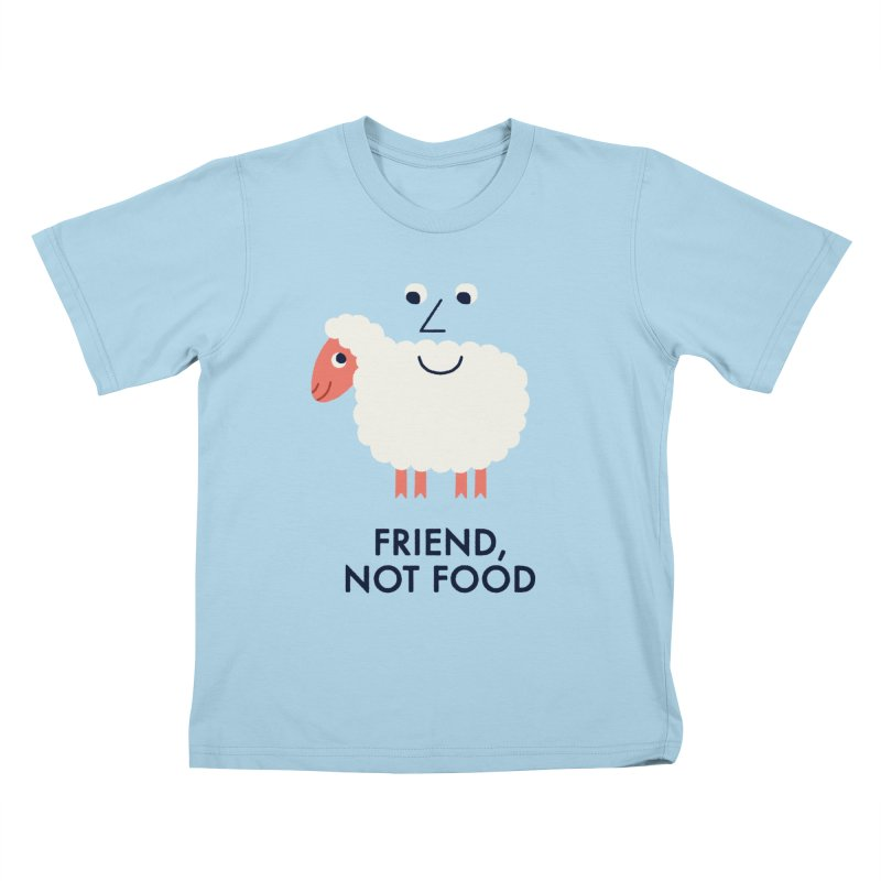 Friend, Not Food Kids T-Shirt by Mauro Gatti House of Fun