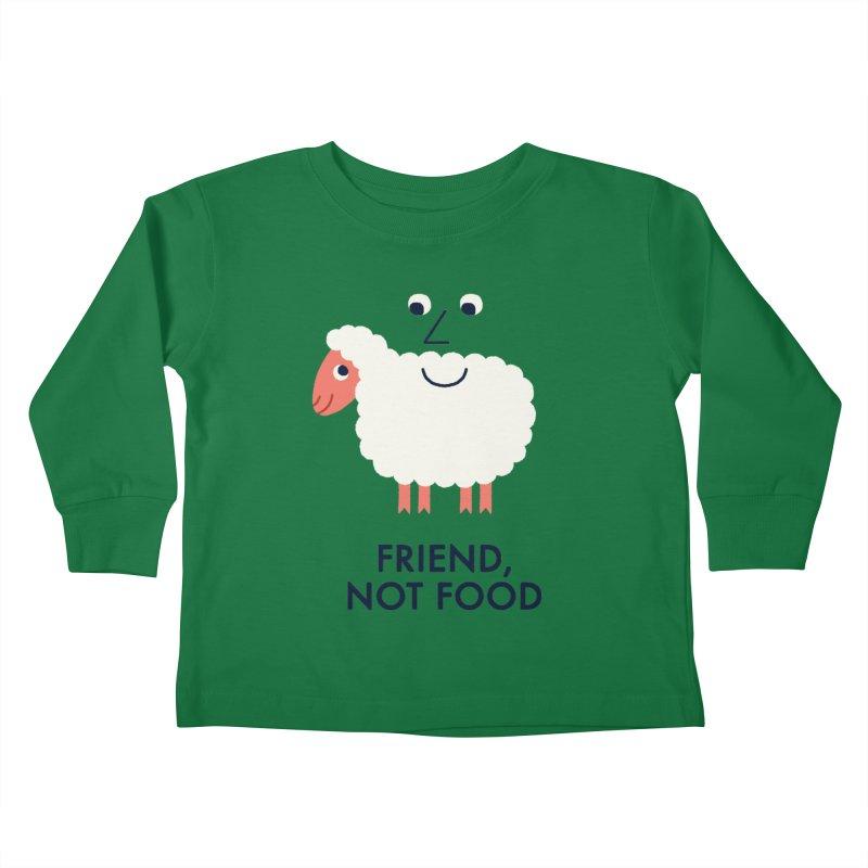 Friend, Not Food Kids Toddler Longsleeve T-Shirt by Mauro Gatti House of Fun