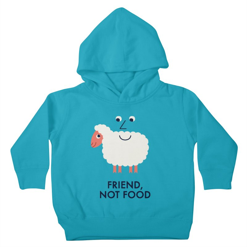Friend, Not Food Kids Toddler Pullover Hoody by Mauro Gatti House of Fun