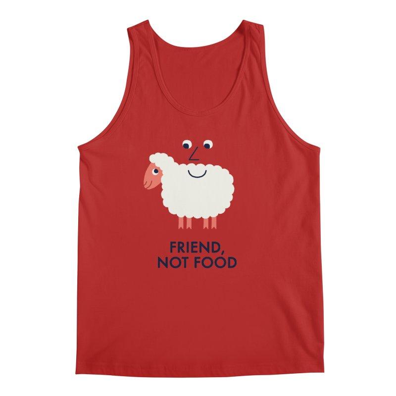 Friend, Not Food Men's Tank by Mauro Gatti House of Fun
