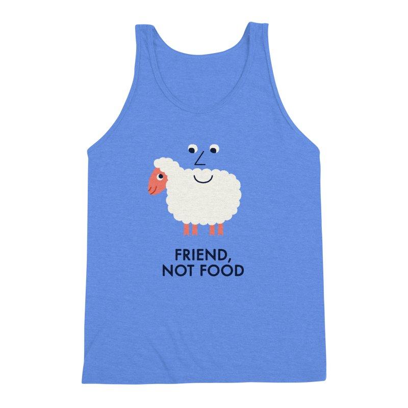 Friend, Not Food Men's Triblend Tank by Mauro Gatti House of Fun