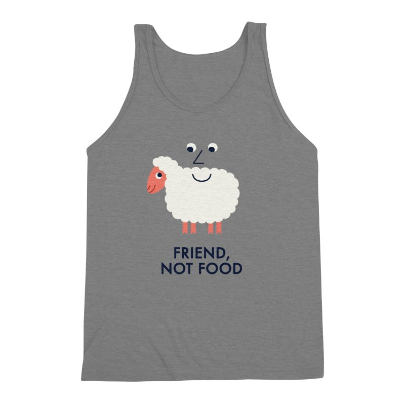 Friend, Not Food Men's Triblend Tank by Mauro Gatti House of Fun