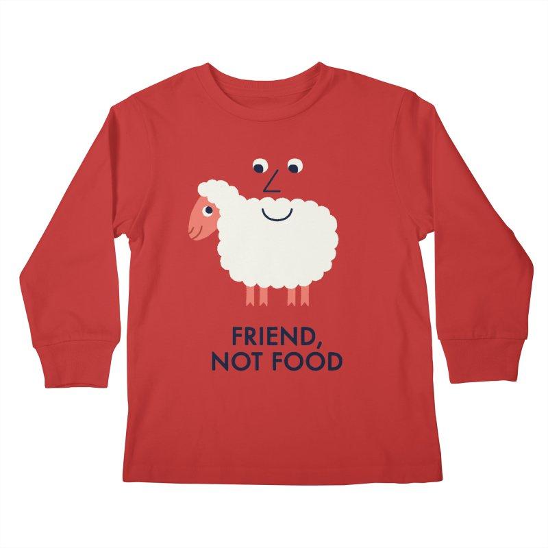 Friend, Not Food Kids Longsleeve T-Shirt by Mauro Gatti House of Fun