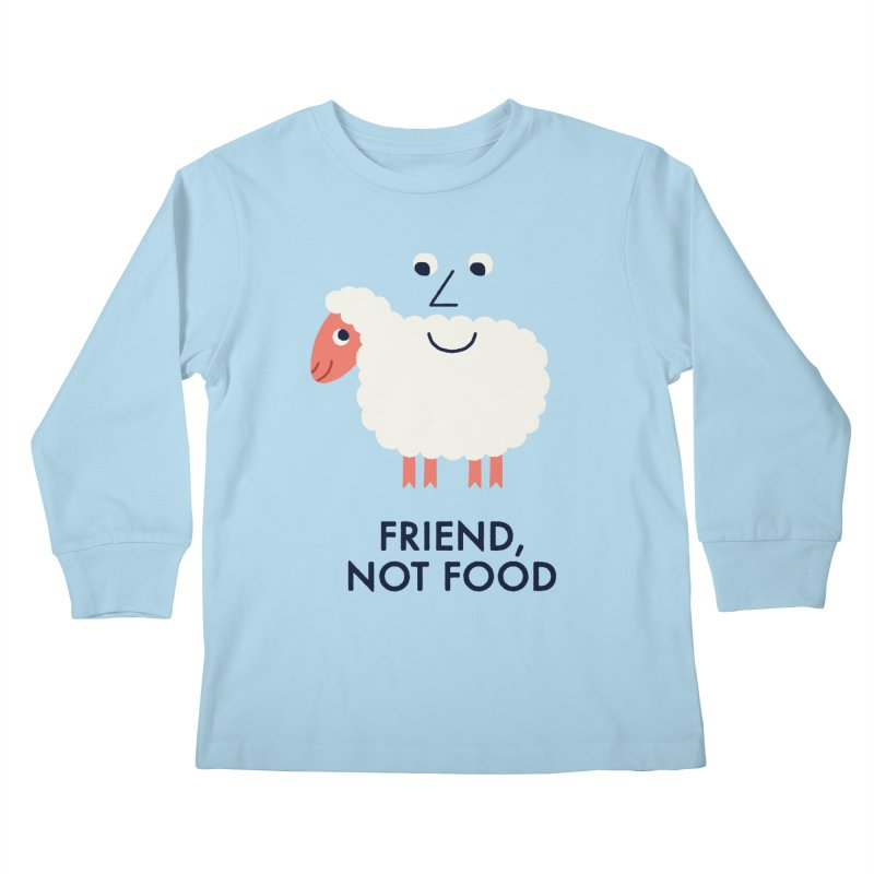 Friend, Not Food Kids Longsleeve T-Shirt by Mauro Gatti House of Fun