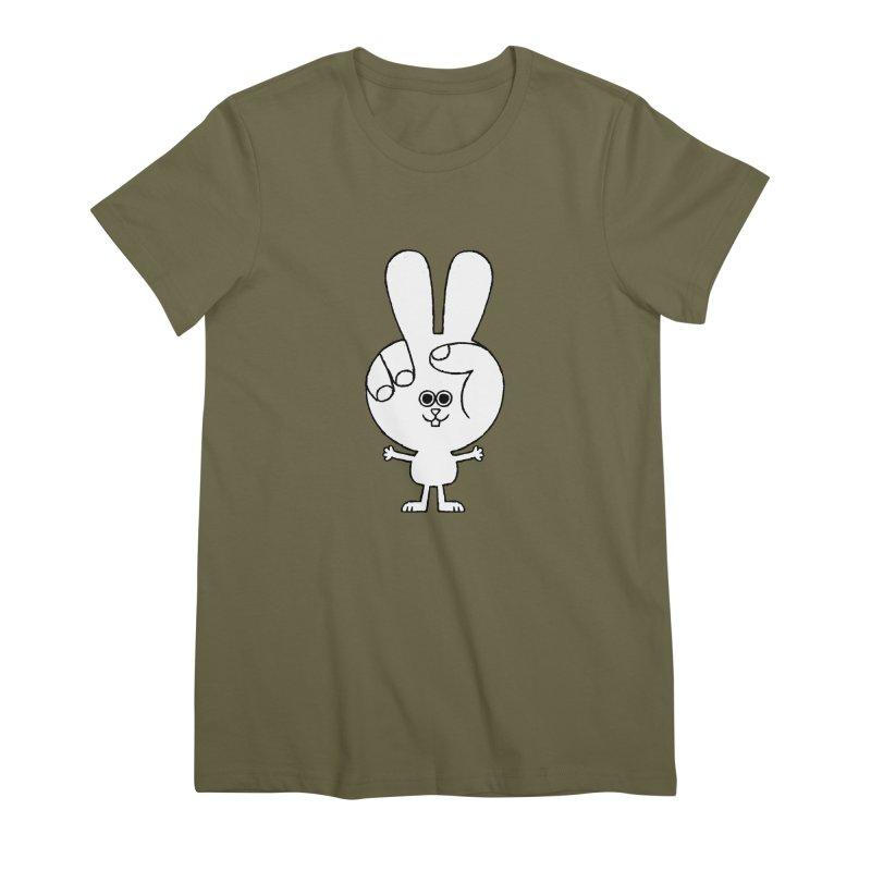 Peace Bunny Women's Premium T-Shirt by Mauro Gatti House of Fun