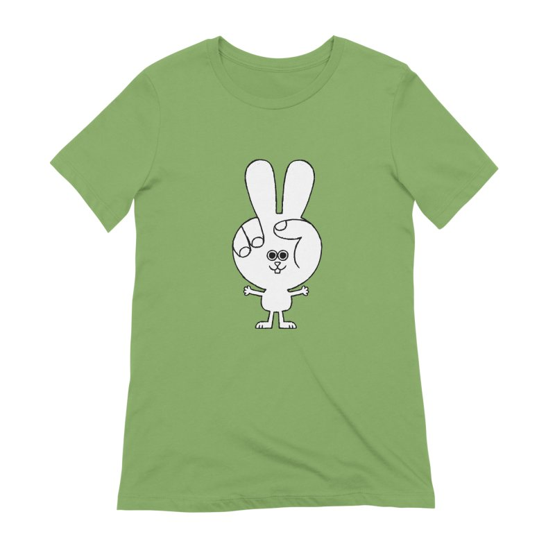 Peace Bunny Women's Extra Soft T-Shirt by Mauro Gatti House of Fun