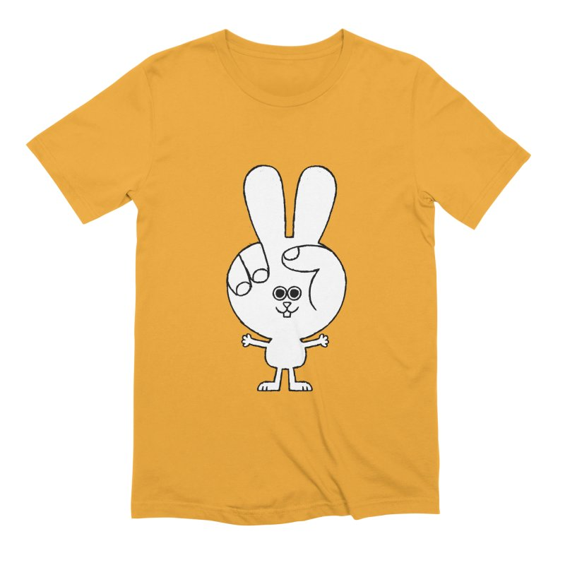 Peace Bunny Men's Extra Soft T-Shirt by Mauro Gatti House of Fun