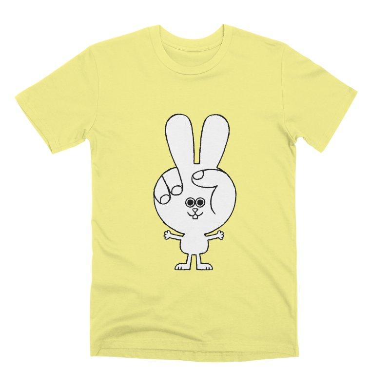 Peace Bunny Men's Premium T-Shirt by Mauro Gatti House of Fun