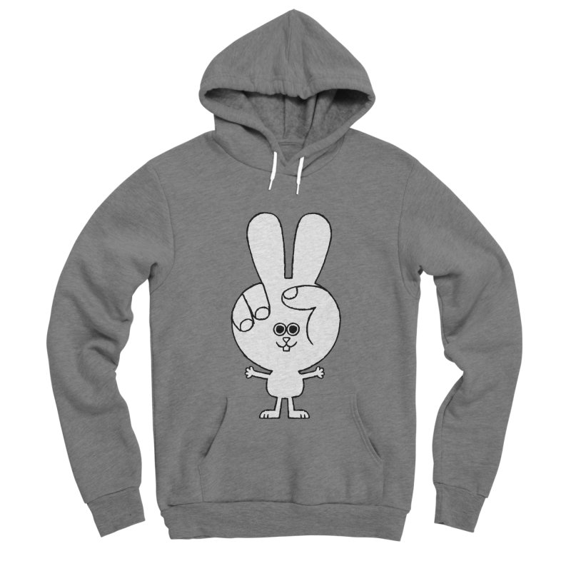 Peace Bunny Women's Sponge Fleece Pullover Hoody by Mauro Gatti House of Fun