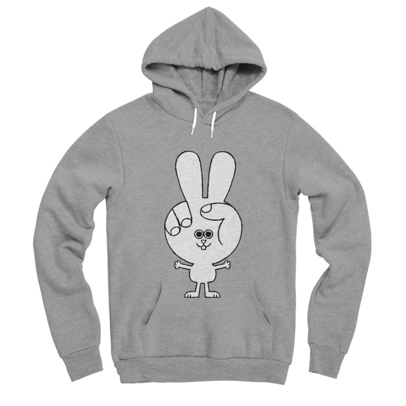 Peace Bunny Women's Sponge Fleece Pullover Hoody by Mauro Gatti House of Fun